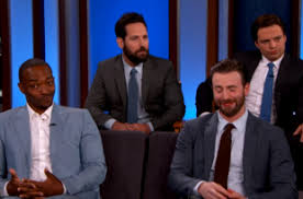 Chris Evans Was At Jimmy Kimmel Live On Tuesday April 12th 2016 You Can Watch A Video Above And The Rest Of Them Below But He Not Alone