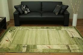 ovaler teppich 100x180 200x300 grün modern wohnzimmer