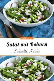 salat mit bohnen rucola und radieschen schlauer