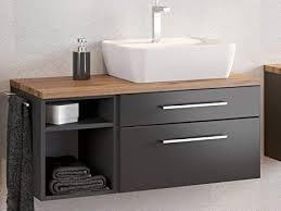 möbelando waschbeckenunterschrank badschrank unterschrank badezimmerschrank bad davos ii graphit grau matt