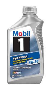 Amazon.com: Mobil 1 45000 5W-30 High Mileage Motor Oil - 1 Quart ...
