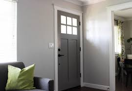 Adorable Grey Wood Front Door As Furniture And Furnishing For Home Exterior Design Ideas Breathtaking