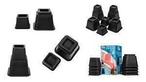 home solutions adjustable bed risers or furniture risers home