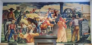 Harlem Hospital Glass Mural by Wpa Post Office Mural Wichita Post Office Mural Pinterest