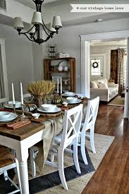 Love The Basket In Middle Of Table Our Vintage Home Fall Dining Room