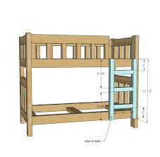 Wood Plans For Loft Bed by Ana White Camp Style Bunk Beds For American Or 18 Dolls