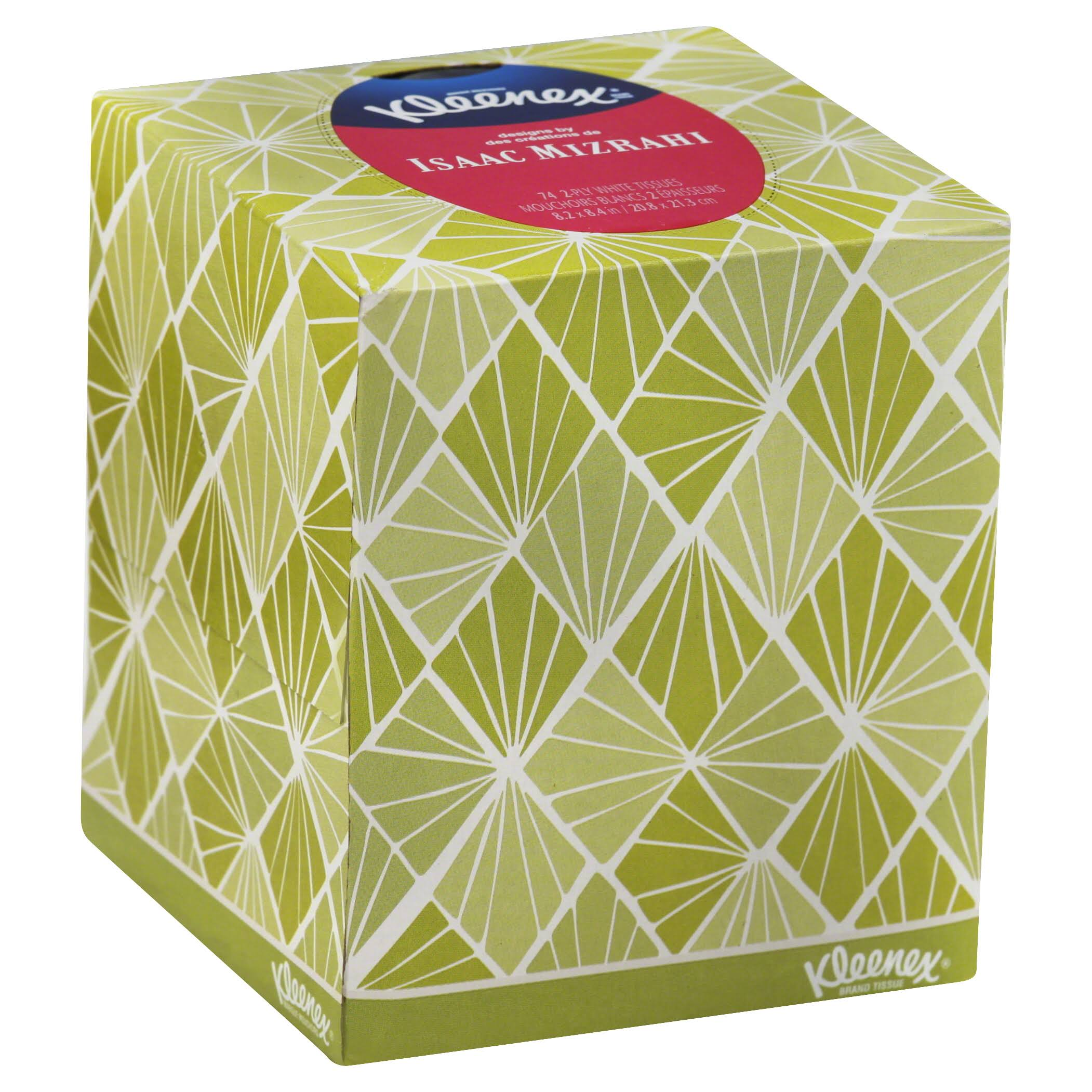 Kleenex Expressions 2 Ply White Facial Tissue - 74ct, Assorted Designs