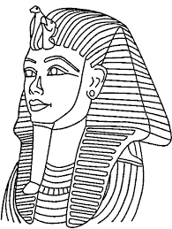 King Tut Death Mask Coloring Page