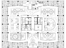 Drawn office floor plan design Pencil and in color drawn office