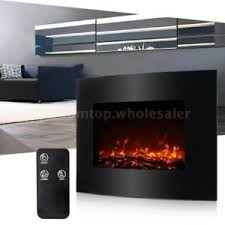 """35"""" Electric Wall Mount Fireplace 3D Flame Heater with Remote"""