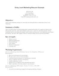 Great Marketing Resume Examples