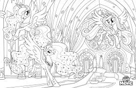 My Little Pony The Movie Coloring Page With Ponies Princess In Canterlot