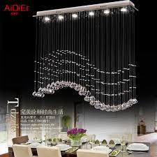 living room bedroom restaurant pendant chandelier wave shaped