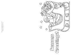 Christmas Cards Coloring Pages Of Merry At