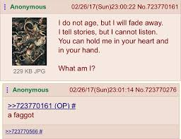 Anon Finds The Right Answer To A Riddle