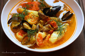 Bouillabaisse From The Provincial Mediterranean Port City Of Marseilles Full Local Seafood