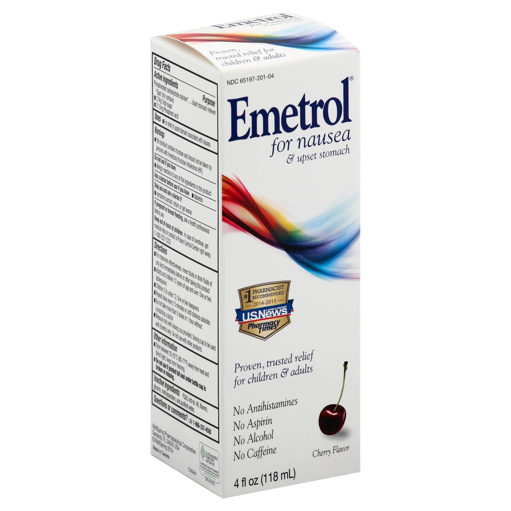 Emetrol Nausea Relief Liquid - Cherry Flavour, 4oz