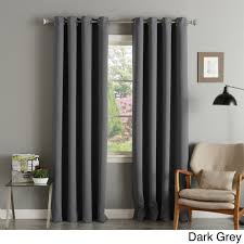 Pottery Barn Curtains 108 by Aurora Home Silver Grommet Top Thermal Insulated 108 Inch Blackout