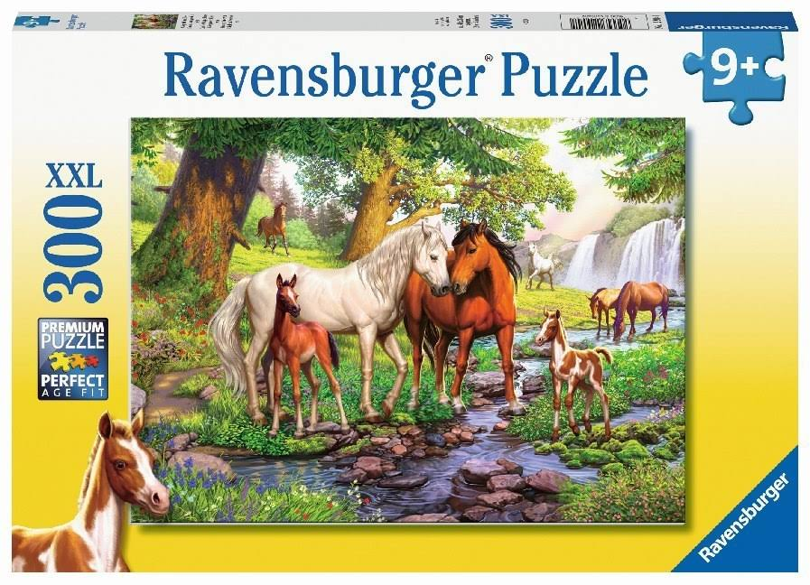 Ravensburger Children's Jigsaw Puzzle Horses by The Stream 300 Piece, Age 9 +