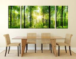 3 Piece Canvas Art Prints Dining Room Scenery Large Pictures Green