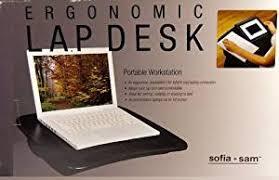 Sofia Sam Lap Desk by Sofia Sam Ergonomic Lap Desk Portable Workstation Walnut