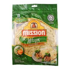 ission cuisine 2 mission tortillas wrap and chives 8 per pack 360g from redmart
