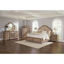 Jeromes Bedroom Sets by Coaster Ilana Storage Bedroom Set In Antique Linen