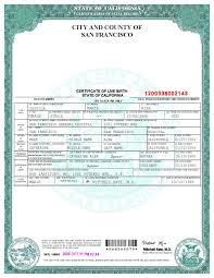 San Francisco Birth Certificate Template