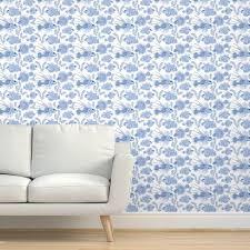 tapete fisch ozean modern chinesisch chinoiserie tapete blau und weiß unterwasser badezimmer feuerfisch korallenriff unter wasser