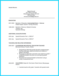 Resume For Assistant Teacher Job Description Preschool Sample