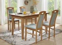 esszimmermöbel mit stühlen aus massiver buche stuhl 2er set hellblau erle