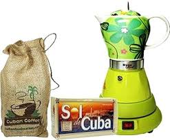 Cuban Coffee Pot Electric Cordless Espresso Maker 4 Cups Color Green Includes In Beautiful