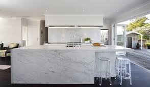 Above Marble Creates A Stunning Statement In This Kitchen By Robyn Labb Kitchens