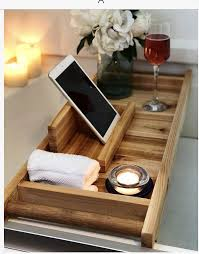 cedar bath tray bath caddy bath tray with holder etsy