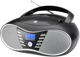 schwarz ukw radio led display netz oder batteriebetrieb