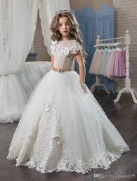 elegant first communion dresses for girls 2017 applique princess