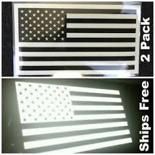 2 PACK American Flag Sticker Decal Reflective Tactical Subdued Military USA