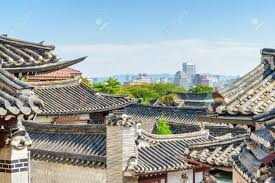 100 South Korean Houses Scenic View Of Black Tile Roofs Of Traditional Houses