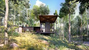 100 House In Forest Awesome Visualization Residential 3D Exterior In The