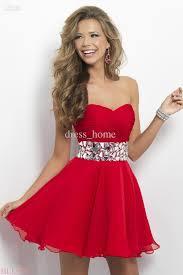 newest design a line sweetheart sleeveless mini short red chiffon
