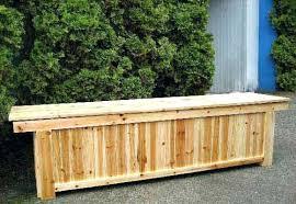 Patio Furniture Storage Outdoor Bench Storage Seat Cedar Wood