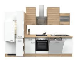 küchenzeile rom küche mit e geräten 16 teilig breite 310 cm weiß