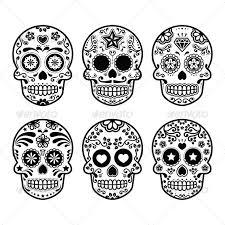 Sugar Skull Pumpkin Carving Patterns by Mexican Sugar Skull Set Sugar Skulls Sugaring And Template