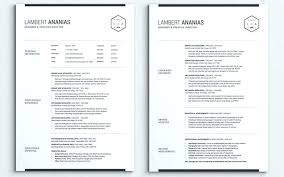 Best Of Two Page Resume Examples Format 2 Template Download