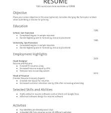 Job Resume Template Singapore Simple Sample For Templates Professional Formats Freshers Curriculum