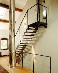 un palier d escalier dt46 esca droit avec palier d arrivée escalier design métal et