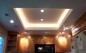 Gypsum Ceiling With Light Fixtures
