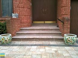Ipe Deck Tiles Toronto by Interlocking Driveway With 2nd Level Deck And Flagstone Steps