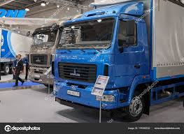100 Maz Truck Moscow Sep 2017 Close View Exhibit Commercial Transport
