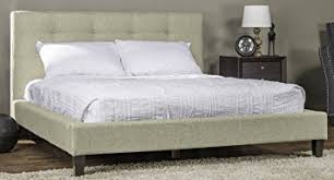 amazon com baxton studio callasandra contemporary linen bed king